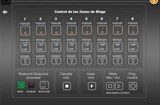 Control Riego automatico knx