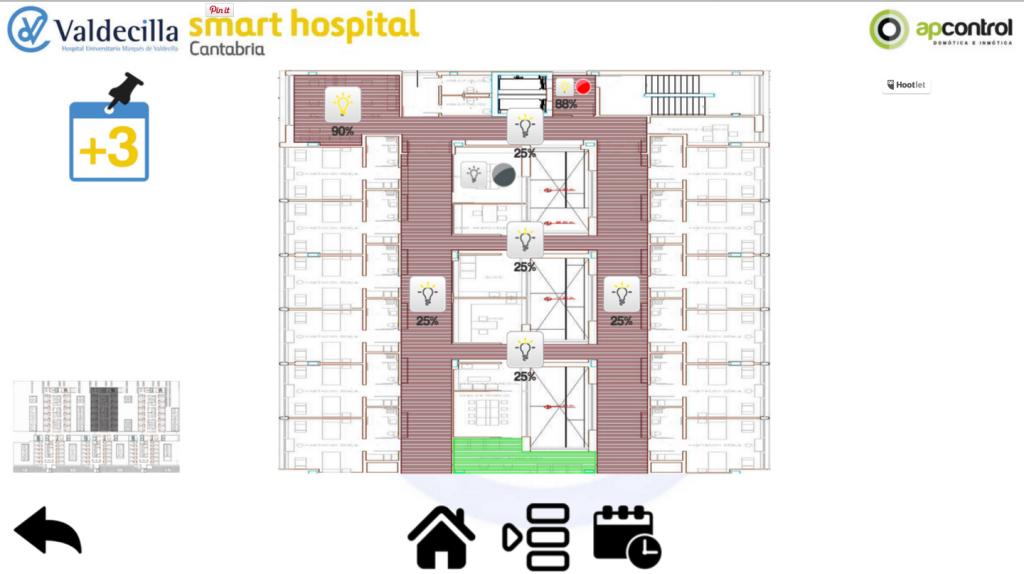 Control Iluminación KNX DALI Hospital de Valdecilla Santander